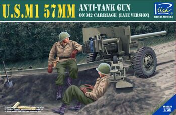 RV35020 1/35 U.S.M1 57mm Anti-tank Gun on M2 carriage (Late Version)