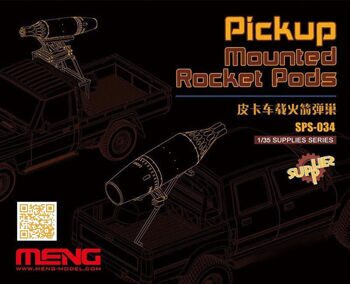 SPS-034 1/35  PICKUP MOUNTED ROCKET PODS (RESIN)