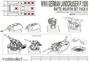 UA72310 WWII Germany landcruiser p.1000 ratte weapon set pack II