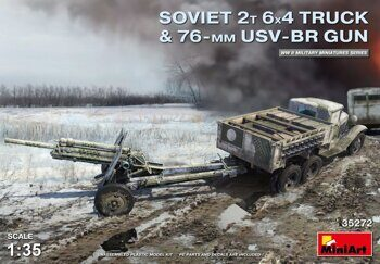 MA35272 Soviet 2 t 6x4 Truck with 76 mm USV-BR Gun