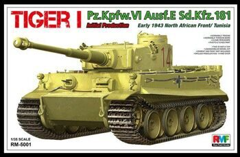 "RM-5001 ""Tiger I Pz.Kpfw.VI Aust.E Sd.Kfz.181  Initial Production, early 1943 North African Front/Tu"