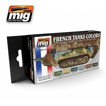 AMIG7110 French Tank Colors