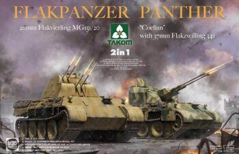 "2105 Flakpanzer Panther ""Coelian"" with 37mm Flakzwilling 341 & 20mm Flakvierling mg151/20 2 in 1"
