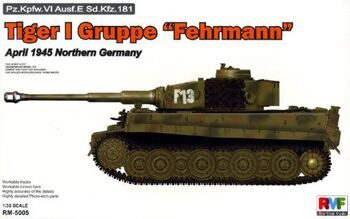 "RM5005 1/35 Tiger I Gruppe ""Fehrmann"" April 1945 Northern Germany"