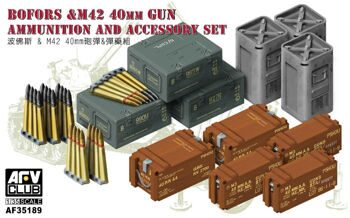 AF35189 WWII British Bofors & M42 40mm Gun Ammunition & Accessory