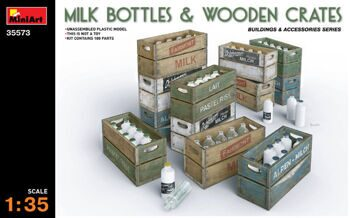 35573  Milk Bottles & Wooden Crates