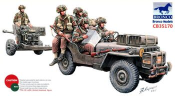 CB35170 1/35 British 6pdr Anti-Tank Gun (Airborne) With 1/4Ton Truck & Crew