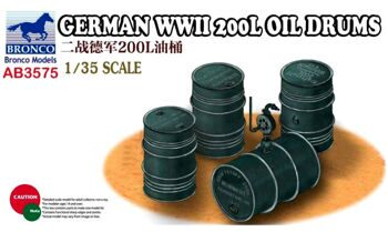 AB3575 1/35 GERMAN WWII 200L OIL DRUMS