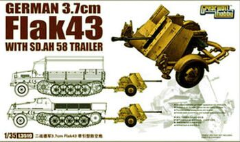 L3519 1/35 WWII German 3,7cm FlaK43 with Sd.Ah.58