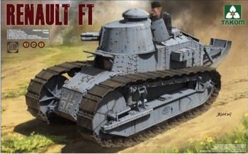 1004 1/16 French Light Tank Renault FT-17 (3 in 1)