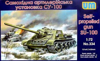 334  SU-100 Soviet self-propelled gun