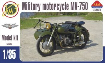 35003  MV-750 Soviet military motorcycle with sidecar