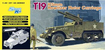 6496 1/35 T19 105mm Howitzer Motor Carriage - Smart Model Kit