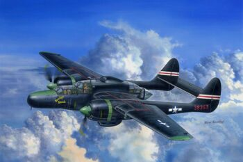 81732 Самолет US P-61C Black Widow (Hobby Boss) 1/48