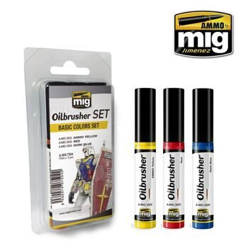 AMIG7504 Ammo Mig OILBRUSHER BASIC COLORS SET