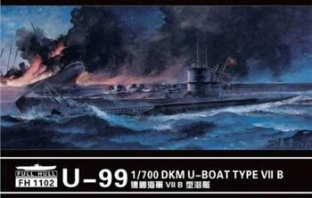 FH 1102 1/700 U-boat Type VII B  DKM U-99(2pieces)