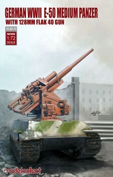UA72099 German WWII E-50 Medium Panzer with 128mm Flak 40 Gun
