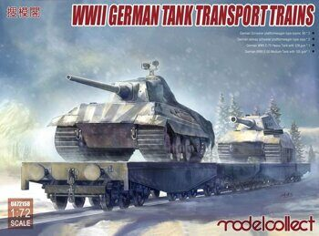 UA72158 WWII German Tank Transport Trains