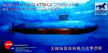 NB5001 USS SSN Sea-Wolf attack submarine
