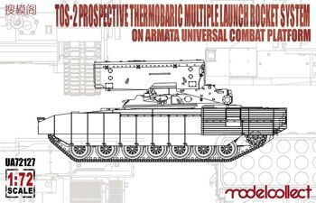UA72127 TOS-2 Prospective Thermobaric MuLtlplelaunch Rocket System on Armata Universal Combat Platfo