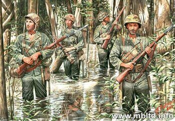 MB3589 US Marines in jungle