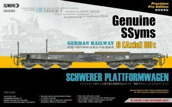 35A05 1/35 Genuine SSyms - German Railway SCHWERER PLATTFORMWAGEN 6-Axle 80 ton