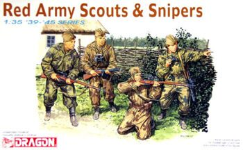 6068 1/35 WWII Red Army Russian Scouts & Snipers (4 Figures)