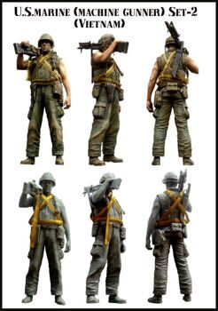 35056 US Marine Vietnam Machine Gunner Set-2