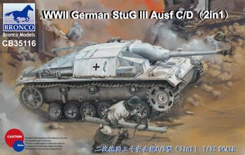 CB35116 1/35 WWII German StuG III Ausf C/D with 75mm StuK 37/L24 & 75mm StuK40/L48 (2 in 1)