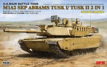 5026 M1A2 SEP Abrams TUSK I /TUSK II with full interior