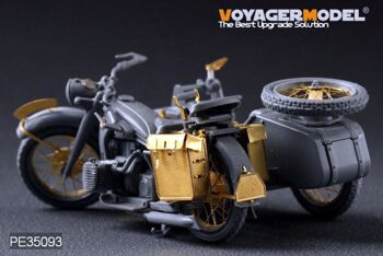 PE35093 WWII German Motorcycle R-12(For Zvezda 3607)