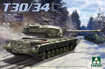 2065 1/35 U.S. Heavy Tank T30/34 2 in 1
