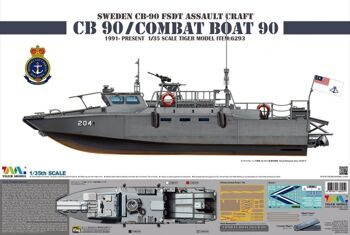 6293 1/35 Sweden CB-90 H Fast Assault Craft