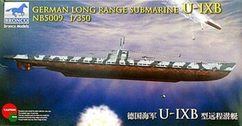 NB5009 German long range submarine U-IXB
