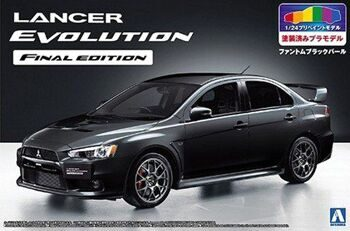 05090 1/24 1/24 LANCER EVOLUTION X FINAL EDITION (PHANTOM BLACK-PEARL 2 TONE)