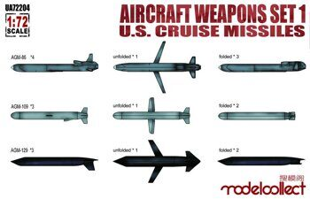 UA72204 Aircraft weapons set1 U.S.cruise missiles