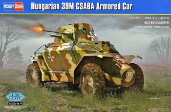 83866 Бронеавтомобиль Hungarian 39M CSABA Armored Car (Hobby Boss) 1/35