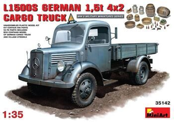 35142 MiniArt 1/35 MB 1500S German 1,5t Cargo Truck