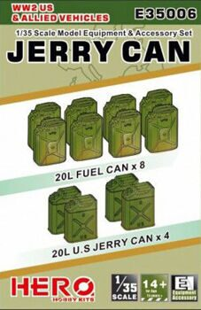 E35006 1/35 Jerry Can of WW2 US & Allied Vehicles