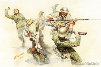 "MB3592  ""Hand-to-hand fight, British and German Infantry. Battles in Northern Africa. Kit 1"""