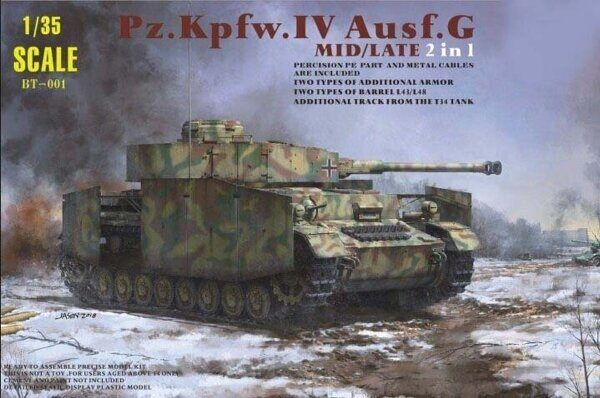 BT-001 Pz.Kpfw.IV Ausf.G Mid/Late (2 IN 1)