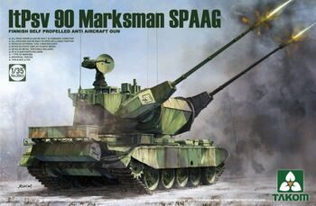 2043 FINNISH SELF PROPELLED ANTI AIRCRAFT GUN