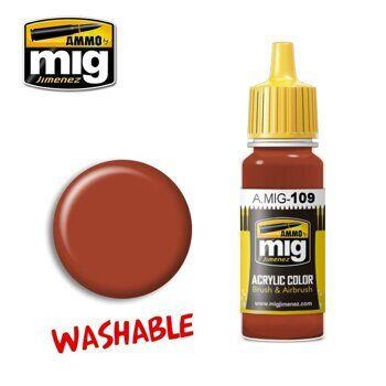 AMIG0109 WASHABLE RUST