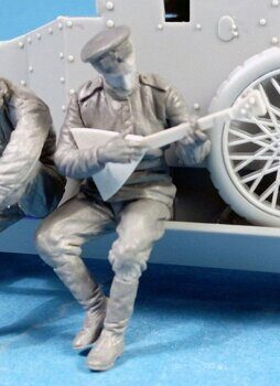 F35-012 Imperial Russian Automobile Machine Gun Platoon Crewman playing balalaika