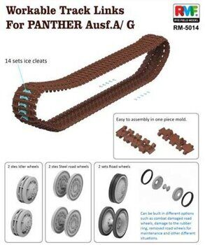 RM-5014 1/35 Workable Tracks for Parther A/G