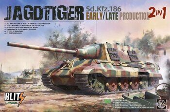 8001 1/35 Sd.Kfz.186 Jagdtiger early/late production 2 in 1