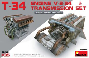 35205  T-34 Engine (V-2-34) & Transmission Set