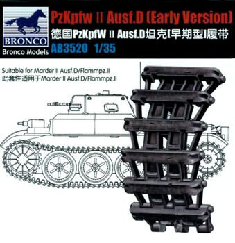 AB3520 Pzkpfw.2 Ausf.D(Early) Track Link Set