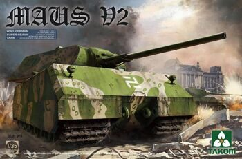 2050 1/35 WWII German Super Heavy Tank Maus V2