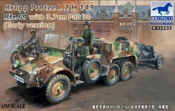 CB35133 Krupp Protze L2 H 143 Kfz.69 (early version) with 3.7cm Pak 36